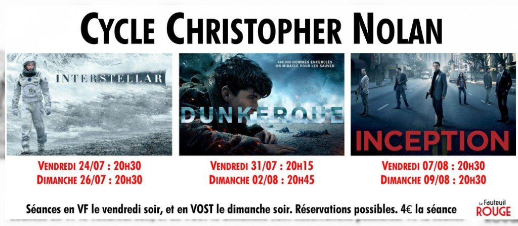 actualité Cycle Christopher Nolan